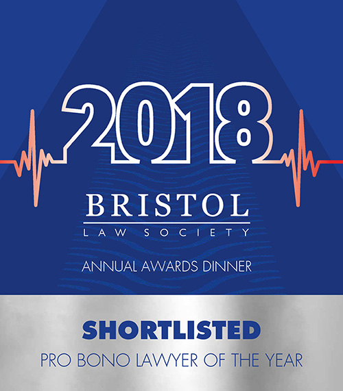 2018 Bristol Law Society Annual Awards Dinner - shortlisted pro bono lawyer of the year image